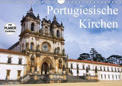 Portugiesische Kirchen (Wandkalender 2019 DIN A4 quer), LianeM