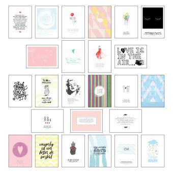 postkarten set postkarten spr che mit 25 hochwertigen versch liebevollen motiven und. Black Bedroom Furniture Sets. Home Design Ideas