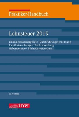Praktiker-Handbuch Lohnsteuer 2019 - Walter Niermann pdf epub