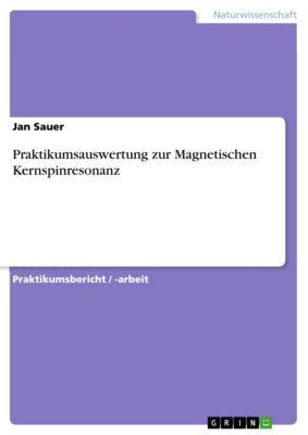 Praktikumsauswertung zur Magnetischen Kernspinresonanz, Jan Sauer