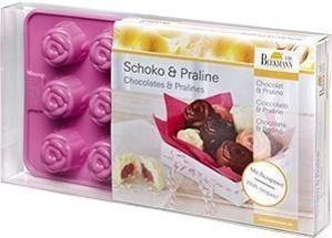 Pralinen- und Schokoladenförmchen Rose
