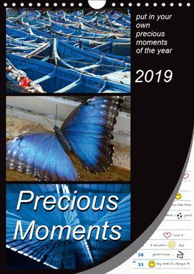 Precious Moments - put in your own precious moments (Wall Calendar 2019 DIN A4 Portrait), k.A. Mowaru