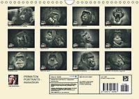PRIMATEN PORTRAITS - monochrom (Wandkalender 2019 DIN A4 quer) - Produktdetailbild 13