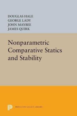 Princeton Legacy Library: Nonparametric Comparative Statics and Stability, James Quirk, Douglas Hale, George Lady, John Maybee