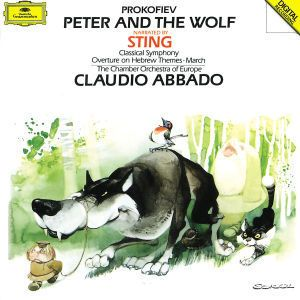 Prokofiev: Peter and the Wolf, Classical Symphony Op. 25, March Op. 99, Overture Op. 34, Sting, Stefan Vladar, Claudio Abbado, Coe