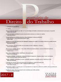 Prontuário de Direito do Trabalho, Centro de Estudos Judiciários