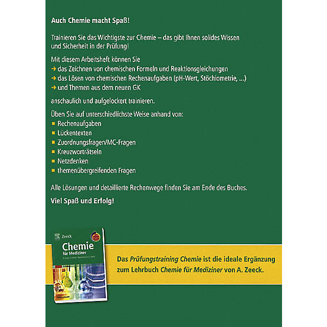 Prüfungstraining Chemie Für Mediziner Buch Weltbildde