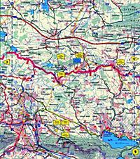 Publicpress Leporello Radtourenkarte Bodensee Konigssee Radweg 33