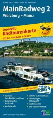 PUBLICPRESS Leporello Radtourenkarte Main-Radweg