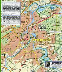 PUBLICPRESS Leporello Radtourenkarte Ostseeküsten-Radweg - Produktdetailbild 1