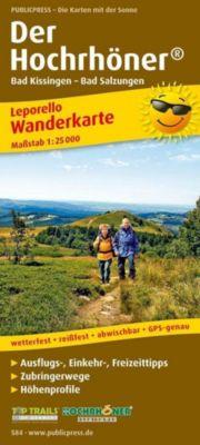 PUBLICPRESS Leporello Wanderkarte Der Hochrhöner, Bad Kissingen - Bad Salzungen
