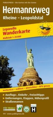 PublicPress Leporello Wanderkarte Hermannsweg, Rheine - Leopoldstal -  pdf epub