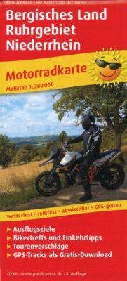 PublicPress Motorradkarte Bergisches Land, Ruhrgebiet, Niederrhein -  pdf epub