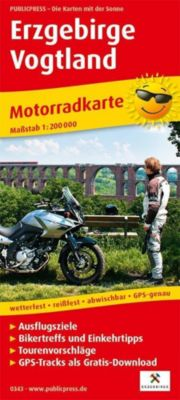 PublicPress Motorradkarte Erzgebirge, Vogtland