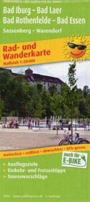 PublicPress Rad- und Wanderkarte Bad Iburg - Bad Laer - Bad Rothenfelde - Bad Essen, Sassenberg - Warendorf