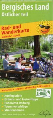 PUBLICPRESS Rad- und Wanderkarte Bergisches Land, Östlicher Teil