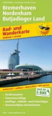 PublicPress Rad- und Wanderkarte Bremerhaven - Nordenham - Butjadinger Land