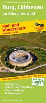 PUBLICPRESS Rad- und Wanderkarte Burg, Lübbenau im Oberspreewald