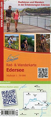 PublicPress Rad- und Wanderkarte Edersee, Nationalpark Kellerwald-Edersee - Produktdetailbild 1