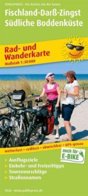 PublicPress Rad- und Wanderkarte Fischland - Darß - Zingst - Südliche Boddenküste