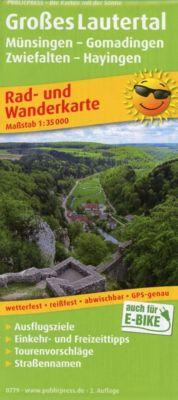 PUBLICPRESS Rad- und Wanderkarte Großes Lautertal