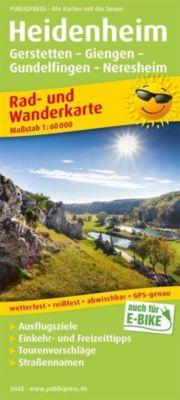 PublicPress Rad- und Wanderkarte Heidenheim, Gerstetten - Giengen - Gundelfingen - Neresheim -  pdf epub
