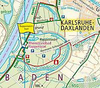 PublicPress Rad- und Wanderkarte Karlsruhe-Landau-Rastatt - Produktdetailbild 1