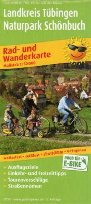 PUBLICPRESS Rad- und Wanderkarte Landkreis Tübingen, Naturpark Schönbuch