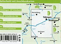 PUBLICPRESS Rad- und Wanderkarte Landkreis Tübingen, Naturpark Schönbuch - Produktdetailbild 1