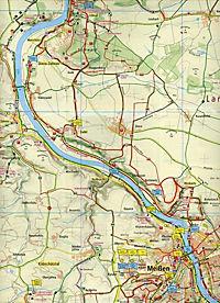PublicPress Rad- und Wanderkarte Meißen, Moritzburg - Radebeul - Elbweindörfer - Produktdetailbild 1