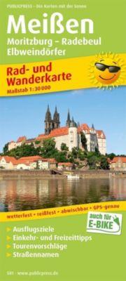 PublicPress Rad- und Wanderkarte Meißen, Moritzburg - Radebeul - Elbweindörfer