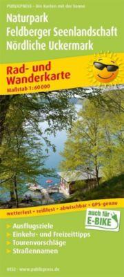 PublicPress Rad- und Wanderkarte Naturpark Feldberger Seenlandschaft - Nördliche Uckermark