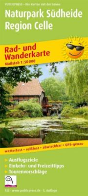 PublicPress Rad- und Wanderkarte Naturpark Südheide, Region Celle