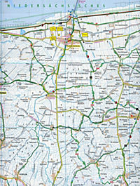 PublicPress Rad- und Wanderkarte Ostfriesische Nordseeküste, Östlicher Teil - Produktdetailbild 2