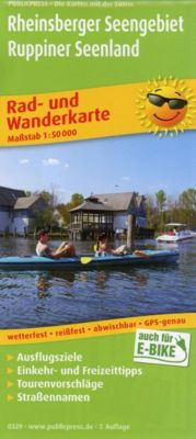 PublicPress Rad- und Wanderkarte Rheinsberger Seengebiet - Ruppiner Seenland