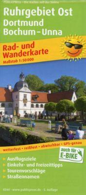 PUBLICPRESS Rad- und Wanderkarte Ruhrgebiet Ost, Dortmund, Bochum - Unna