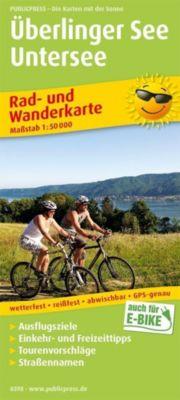 PublicPress Rad- und Wanderkarte Überlinger See, Untersee