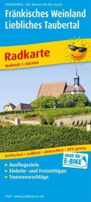 PublicPress Radkarte Fränkisches Weinland - Liebliches Taubertal, Würzburg - Tauberbischofsheim -  pdf epub