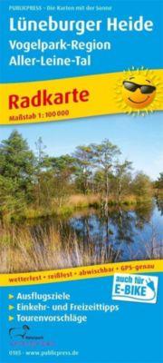 PUBLICPRESS Radkarte Lüneburger Heide - Vogelpark-Region, Aller-Leine-Tal
