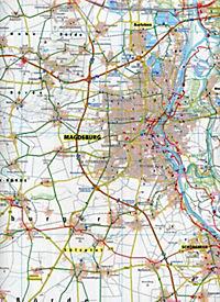 PublicPress Radkarte Magdeburg und Umgebung - Produktdetailbild 2