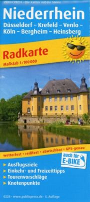 PublicPress Radkarte Niederrhein, Düsseldorf - Krefeld - Venlo - Köln - Bergheim - Heinsberg -  pdf epub