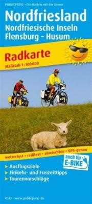 PUBLICPRESS Radkarte Nordfriesland, Nordfriesische Inseln, Flensburg -. Huseum