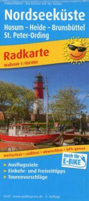 PublicPress Radkarte Nordseeküste, Husum - Heide - Brunsbüttel