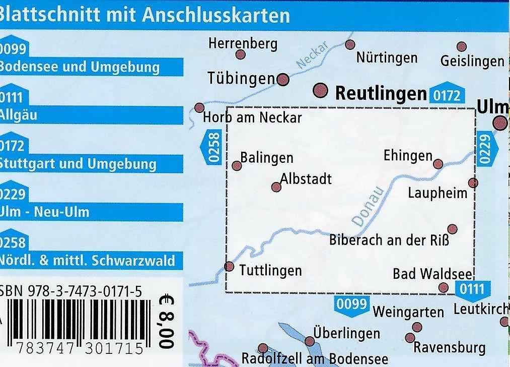 Schwäbische Alb Karte Städte.Publicpress Radkarte Schwäbische Alb Und Oberschwaben Sigmaringen
