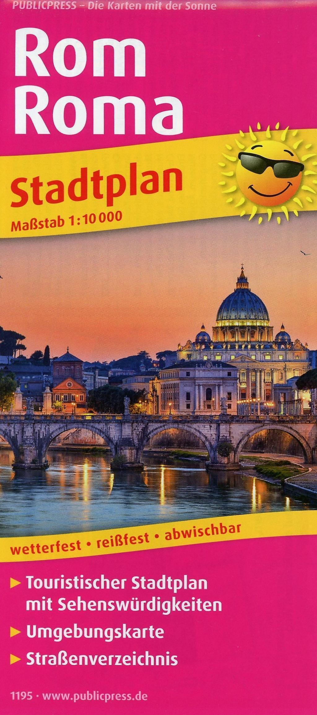 Rom Sehenswürdigkeiten Karte Deutsch.Publicpress Stadtplan Rom Roma Buch Bei Weltbild De Bestellen