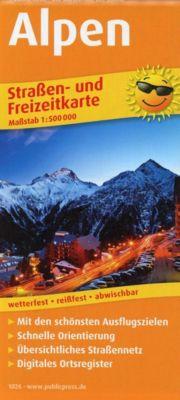 PUBLICPRESS Straßen- und Freizeitkarte Alpen