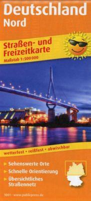 PublicPress Straßen- und Freizeitkarte Deutschland Nord