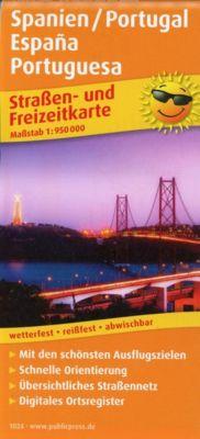 PUBLICPRESS Straßen- und Freizeitkarte Spanien / Portugal, España, Portuguesa