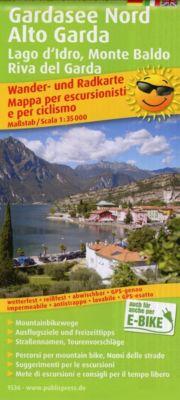 PublicPress Wander- und Radkarte Gardasee Nord, Alto Garda, Lago d'Idro, Monte Baldo, Riva del Garda