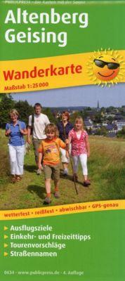 PublicPress Wanderkarte Altenberg - Geising